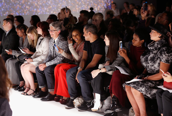Supima Design Competition - SS18  - Front Row [people,fashion,audience,event,social group,crowd,beauty,youth,fashion design,human,buxton midyette,bibhu mohapatra,ambrose,front row,new york city,pier 59,supima design competition,runway show,new york fashion week]