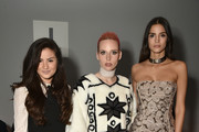 Designer Mery Racauchi (C) and Actress Sofia Resing attend Bibhu Mohapatra Fashion Show during February 2017 - New York Fashion Week: The Shows at Gallery 3, Skylight Clarkson Sq on February 15, 2017 in New York City.