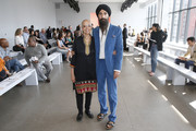 Darshan Ahluwalia and Waris Ahluwalia attend the front row for Bibhu Mohapatra during New York Fashion Week: The Shows at Gallery II at Spring Studios on September 10, 2019 in New York City.