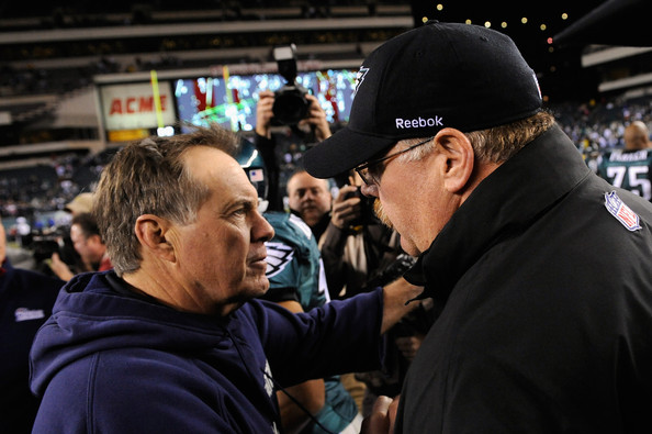 New England Patriots v Philadelphia Eagles [new england patriots,philadelphia eagles,product,fan,crowd,championship,competition event,event,sport venue,games,recreation,stadium,lincoln financial field,philadelphia,pennsylvania,bill belichick,andy reid]