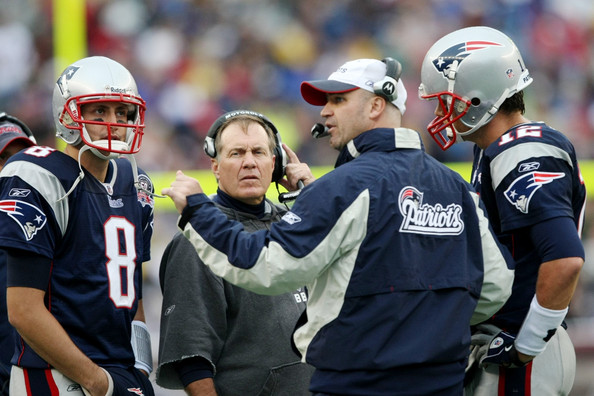 Bill Belichick and Brian Hoyer - Atlanta Falcons v New England Patriots