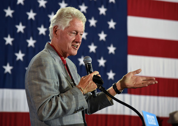 Former President Bill Clinton Campaigns for Democratic Presidential Candidate Hillary Clinton in the Vegas Area []