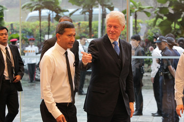 Bill Clinton The Funeral Of Former Singaporean Prime Minister Lee Kuan Yew