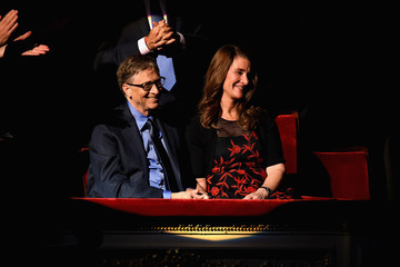 Bill Gates Melinda Gates The ONE Campaign and (RED) Mark World AIDS Day and Celebrate 10 Years of Progress with a Concert at Carnegie Hall in New York
