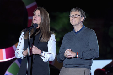 Bill Gates Melinda Gates 2015 Global Citizen Festival in Central Park to End Extreme Poverty By 2030 - Show
