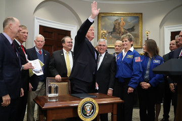 Bill Nelson President Trump Participates In Signing of Space Policy Directive