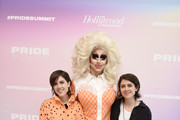 Tegan and Sara and Trixie Mattel attend the Billboard And The Hollywood Reporter Pride Summit on August 08, 2019 in West Hollywood, California.