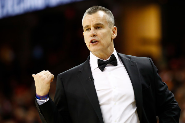 Oklahoma City Thunder v Cleveland Cavaliers [game,suit,official,formal wear,event,gesture,billy donovan,user,user,note,bench,instructions,cleveland,oklahoma city thunder,cleveland cavaliers]