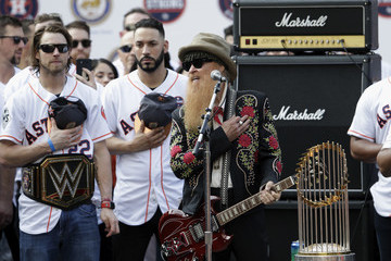 Billy Gibbons Houston Astros Victory Parade