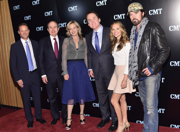 2016 Viacom Kids and Family Group Upfront [event,premiere,carpet,fashion,red carpet,flooring,suit,jayson dinsmore,brian philips,madison iseman,philippe dauman,joey lauren adams,billy ray cyrus,l-r,new york city,viacom kids and family group,viacom kids and family group upfront]