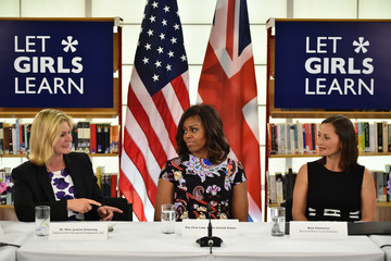 Bina Contreras The First Lady Visits London As Part Of Her Let Girls Learn Initiative