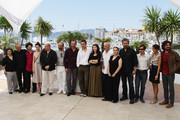 "(L-R) Eda Arikan, Mirsad Purivatra, Thomas Robert, Nihan Okutucu, Ahmet Mumtaz Taylan, Yilmaz Erdogan, Muhammet Uzuner, director Nuri Bilge Ceylan, Ebru Ceylan, Ercan Kesal, Zeynep Oxbatur, Taner Birsel, Selim Unel, Dilek Yapkuoz and Gokhan Tiryaki attend the ""Bir Zamanlar Anadolu'Da"" Photocall at Palais des Festivals during the 64th Annual Cannes Film Festival on May 21, 2011 in Cannes, France."