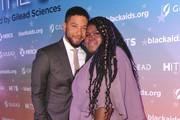 Jussie Smollett and Gabourey Sidibe attend the Black AIDS Institute's 2018 Heroes in The Struggle Gala at California African American Museum on December 01, 2018 in Los Angeles, California.