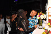 Ava DuVernay and Lena Waithe embrace backstage during Black Girls Rock! 2018 at NJPAC on August 26, 2018 in Newark, New Jersey.