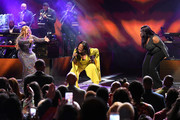 Jekalyn Carr, Le'Andria Johnson, and Kelly Price perform onstage during 2019 Black Music Honors at Cobb Energy Performing Arts Centre on September 05, 2019 in Atlanta, Georgia.