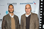 "Producer Lucas Akoskin and Director Guillermo Arriaga attend a screening of ""Words With Gods"" at the AMC River East 21 on October 10, 2014 in Chicago, Illinois."