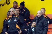Blackpool manager Ian Holloway (R) and Wolverhampton Wanderers manager Mick McCarthy (L) look on during the Barclays Premier League match between Blackpool and Wolverhampton Wanderers at Bloomfield Road on November 20, 2010 in Blackpool, England.