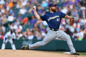 Blaine Boyer Milwaukee Brewers v Colorado Rockies