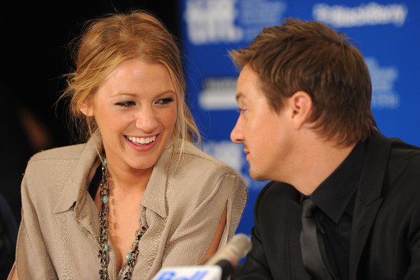 Jeremy Renner and Blake Lively