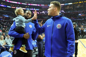 Blake Griffin DeAndre Jordan Celebrities At The Los Angeles Clippers Game