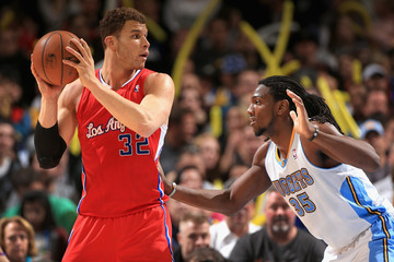 Blake Griffin Kenneth Faried Los Angeles Clippers v Denver Nuggets