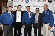 (L-R) Astronaut Ken Ham, Bryan Campen, astronaut Michael Lopez-Alegria, Greg Claxton, and astronaut Mike Massimino attend Blast Off: The Future of Spaceflight at The Explorers Club on May 1, 2014 in New York City.