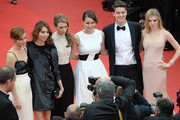 (L-R) Actress Emma Watson, director Sofia Coppola, actors Taissa Farmiga, Katie Chang, Israel Broussard and Claire Julien attend 'The Bling Ring' premiere during The 66th Annual Cannes Film Festival at the Palais des Festivals on May 16, 2013 in Cannes, France.