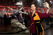 Angela Sarafyan enjoys the festivities at BlizzCon 2019 at the Anaheim Convention Center in Anaheim, CA on Nov. 1, 2019.