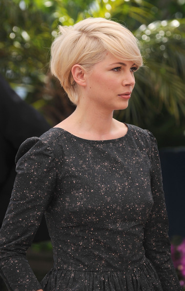michelle williams short hair cannes. Michelle Williams attends the