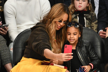 Blue Ivy Carter Celebrities At The 67th NBA All-Star Game: Team LeBron Vs. Team Stephen