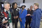 Simon Doonan, Ty-Ron Mayes, Young Paris, Mike Woods and Carson Kressley attend The Blue Jacket Fashion Show during NYFW at Pier 59 Studios on February 05, 2020 in New York City.