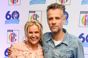Katy Hill and Richard Bacon attend the 'Blue Peter Big Birthday' celebration at BBC Philharmonic Studio on October 16, 2018 in Manchester, England.
