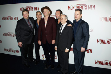 Bob Balaban Jean Dujardin 'The Monuments Men' Premieres in Paris