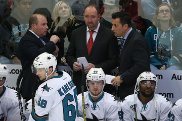 Bob Boughner San Jose Sharks v Colorado Avalanche