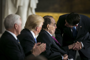 Bob Dole President Trump Attends Congressional Gold Medal Ceremony for Former Senate Majority Leader Bob Dole