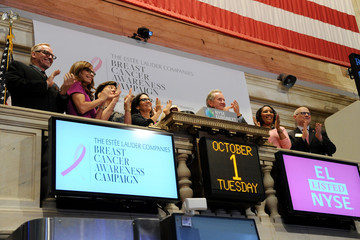Bobbi Brown Estee Lauder Rings the NYSE Opening Bell