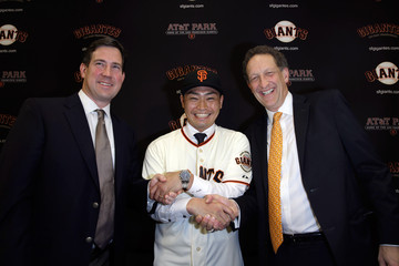 Bobby Evans San Francisco Giants Introduce Nori Aoki