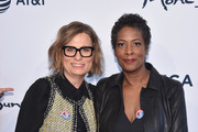"Executive Producer Laura Michalchyshyn (L) and Director Dawn Porter attend ""Bobby Kennedy For President"" Red Carpet Premiere during 2018 Tribeca Film Festival at SVA Theater on April 25, 2018 in New York City."