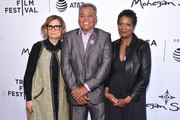 "(L-R) Executive Producer Laura Michalchyshyn, Juan Romero and Director Dawn Porter attend ""Bobby Kennedy For President"" Red Carpet Premiere during 2018 Tribeca Film Festival at SVA Theater on April 25, 2018 in New York City."