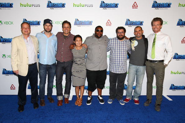 'The Awesomes' VIP Afterparty in San Diego [the awesomes,event,youth,team,xbox,michael shoemaker,chris hardwick,josh meyers,judd winick,actors,guest,hulu,vip]