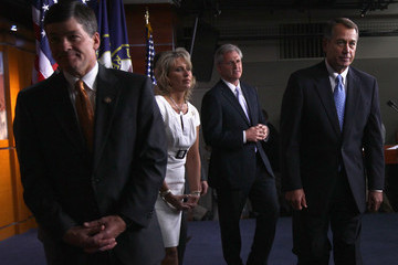 Renee Ellmers Boehner, GOP Leaders Speak To Press At Capitol