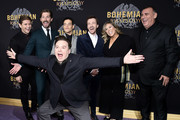 """Allen Leech, Gwilym Lee, Rami Malek, Mike Myers, Joe Mazzello and Graham King attend """"Bohemian Rhapsody"""" New York Premiere at The Paris Theatre on October 30, 2018 in New York City."""