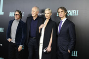 """(L-R) Charles Randolph, John Lithgow, Charlize Theron and Jay Roach attend the """"Bombshell"""" New York Screening at Jazz at Lincoln Center on December 16, 2019 in New York City."""