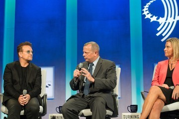 Bono Business And Political Leaders Attend Clinton Global Initiative Annual Meeting