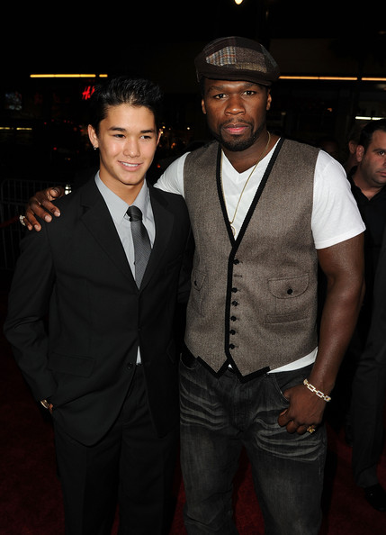 Boo Boo Stewart Actor BooBoo Stewart and 50 Cent arrive at a special screening of Summit Entertainment's