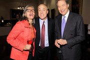 """TV producer Yvette Vega, journalists Michael Duffy and journalist Charlie Rose attend the Book Signing party for TIME's Nancy Gibbs And Michael Duffy's book, """"The Preidents Club"""" at the New York Public Libaray on May 2, 2012 in New York City."""