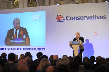 Boris Johnson The Tory Party Hold Their Spring Party Conference