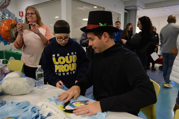 Boston Celtics Bring Festive Holiday Fun To Boston Children's Hospital With Annual Visit