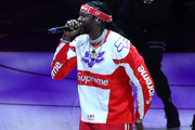 Rapper 2 Chainz performs during Game Four of the 2018 NBA Eastern Conference Finals between the Cleveland Cavaliers and the Boston Celtics at Quicken Loans Arena on May 21, 2018 in Cleveland, Ohio. NOTE TO USER: User expressly acknowledges and agrees that, by downloading and or using this photograph, User is consenting to the terms and conditions of the Getty Images License Agreement.