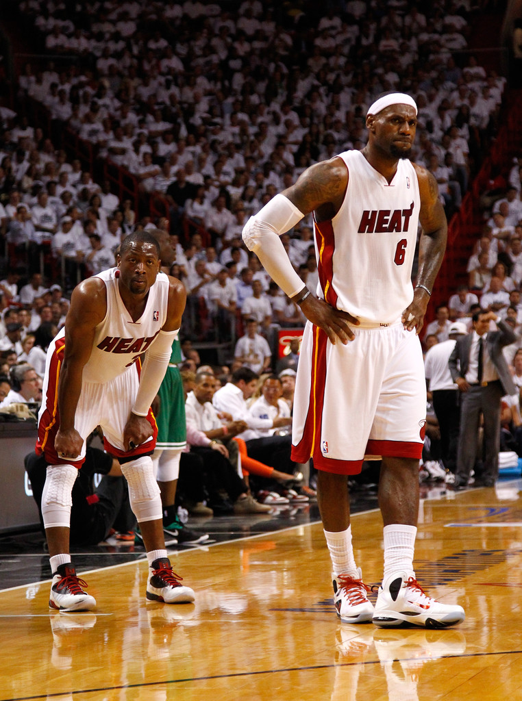 Lebron James And Dwyane Wade Photos Photos Boston